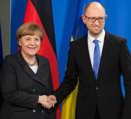 Merkel und Jazenjuk