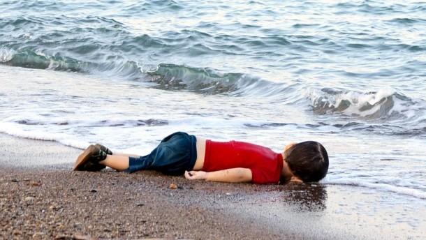 Totes syrisches Flüchtlingskind